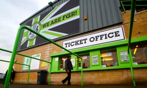 Forest Green Rovers' stadium in Nailsworth, Gloucestershire.