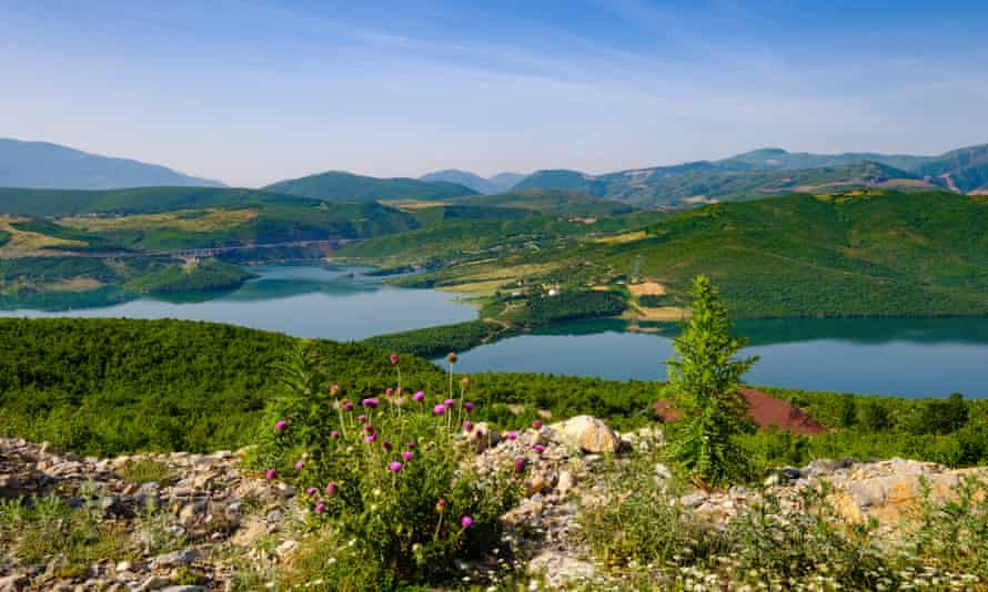The Fierza reservoir and Drin river in Kukës