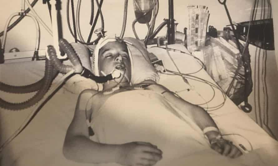 Stephen McConomy in hospital