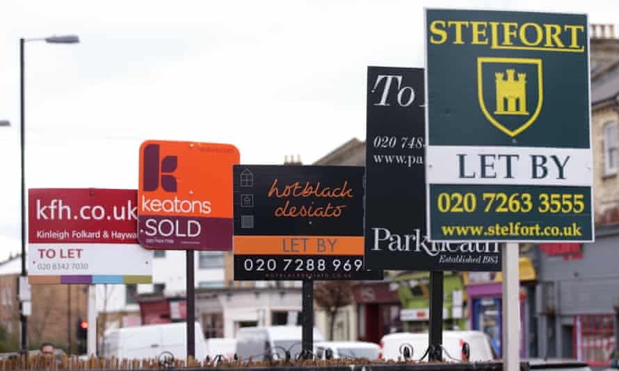 Buy to let signs in London