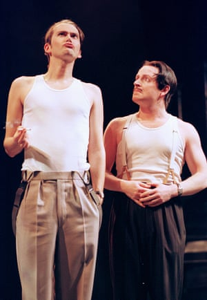 David Tennant and Ian Hughes in The Comedy of Errors, directed by Lynne Parker at Royal Shakespeare theatre, 2000.