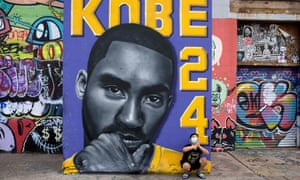 Akileze King Gonzalez poses next to a Kobe Bryant mural in downtown Houston, Texas. Texas statewide mask mandate has ended as of today. Businesses are also now allowed to operate at full capacity as long as the hospitals in their region have not been treating a large share of patients for Covid-19. Gov. Greg Abbott announced he was loosening those restrictions so businesses and families in Texas have the freedom to determine their own destiny.