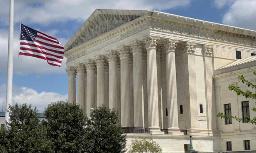 The US Supreme court building in Washington DC. The court's six conservatives were in the majority, with the three liberal members dissenting.