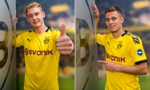 Julian Brandt (left) and Thorgan Hazard have both signed five-year deals with Borussia Dortmund.