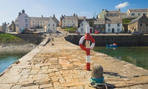The village of Portsoy from the harbour - Aberdeenshire, Scotland..