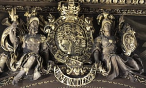 Detail from gilding on the Painted Hall arch