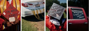 Graduates decorated their caps and cars in celebration.