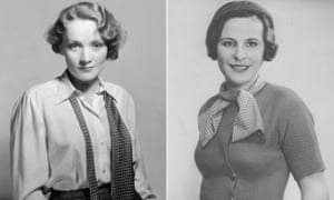 Marlene Dietrich (left) and Leni Riefenstahl: the same age, the same country, the same industry.