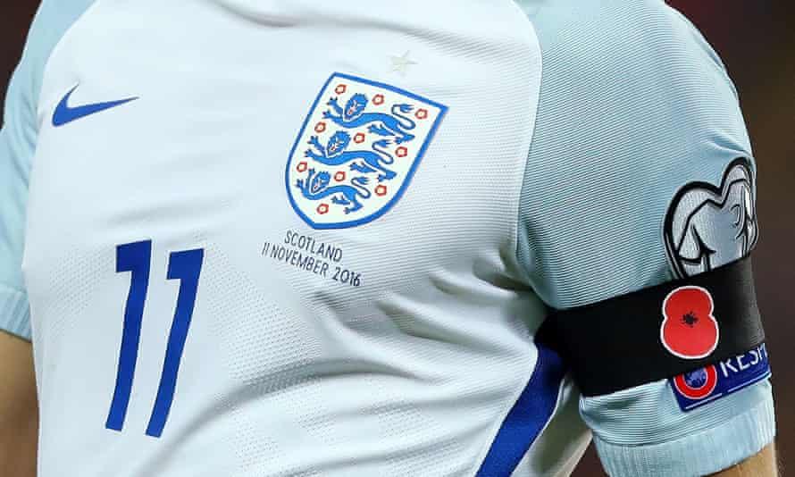 England players at Wembley