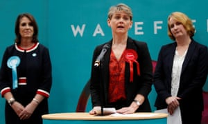 Yvette Cooper speaks after retaining her seat at the December election count.