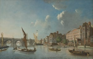 Westminster Bridge with Houses by William James (undated)