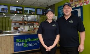 Nikki Mutton and Craig Maw, of Kingfisher Fish and Chips