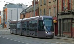 The Luas tram system in Dublin, Ireland.