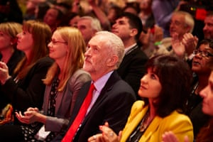 Jeremy Corbyn in Liverpool before the announcement of the result.
