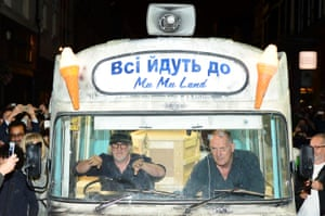 Cauty and Drummond in their Ice Kream Van.