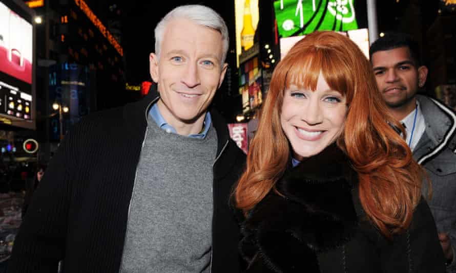 Griffin with CNN anchor and former New Year's Eve show host Anderson Cooper