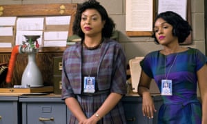 Taraji P Henson as Katherine Johnson and Janelle Monae as Mary Jackson in the film Hidden Figures.