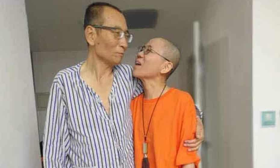 Liu Xiaobo and his wife Liu Xia, in a photograph released by friends.