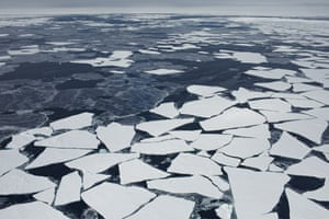 Floating ice floes
