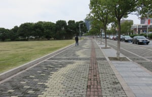 Permeable pavements in Lingang
