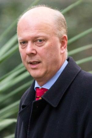 Chris Grayling, former justice secretary,