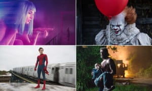 Clockwise from top left, Blade Runner 2049, It, Logan and Spider-Man: Homecoming.