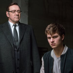 Kevin Spacey in Baby Driver, with Ansel Elgort