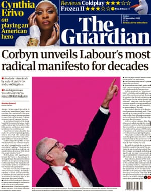 Guardian front page 22/11/19