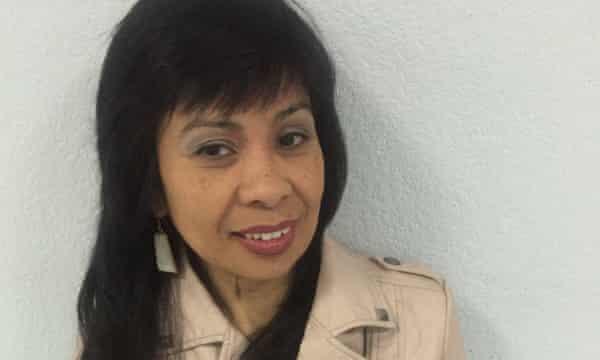 Alma Zamarin, 55, a part-time server at the Trump Hotel in Las Vegas.