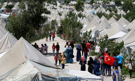 Syrian refugees at a refugee camp in Osmaniye, Turkey. 'In the past five years, Turkey has allocated $10bn to provide Syrian refugees with free healthcare, education and housing.'