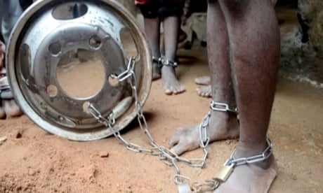Hundreds of captives, many boys in chains, rescued in Nigeria