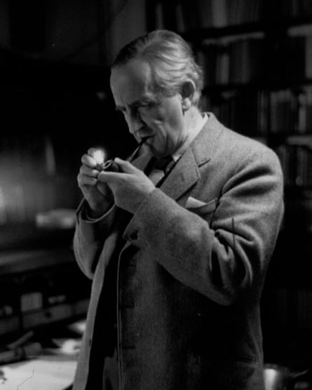 JRR Tolkien, pictured at Oxford University in 1955.