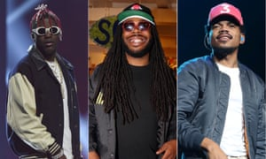 Smile when you're winning: Lil Yachty, DRAM and Chance the rapper.