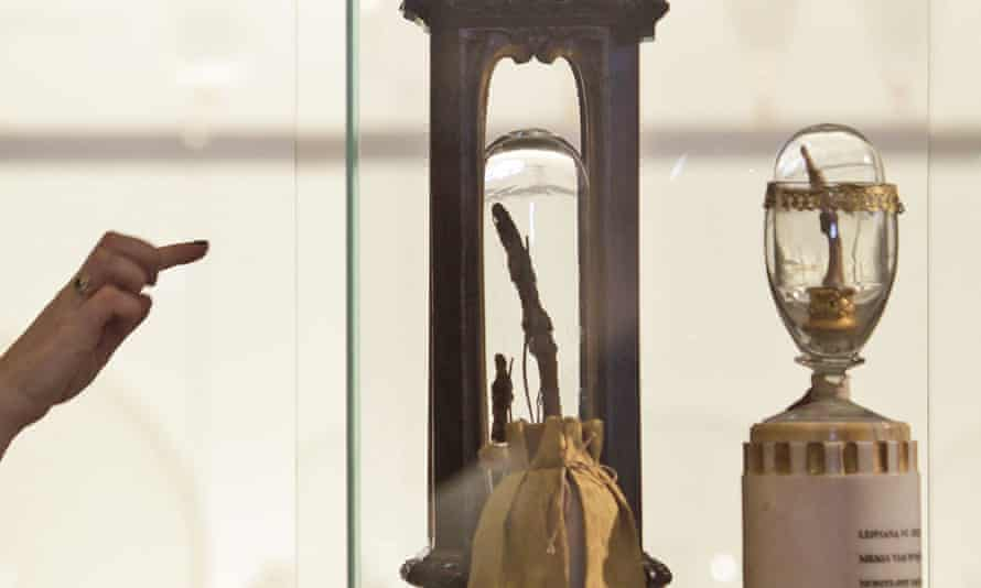 Galileo's fingers at Museo Galileo, Florence.