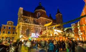 Christmas market in the old town, city center, Munster