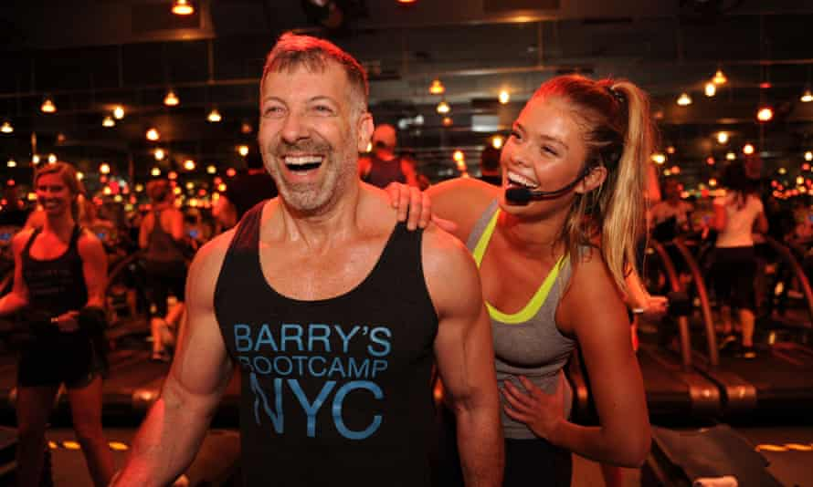 Jay with the model Nina Agdal at a Barry's Bootcamp in Miami Beach in 2015.