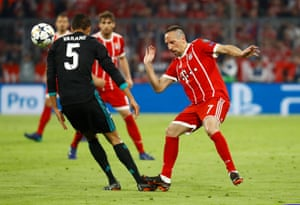 Ribery, booked for the foul on Varane.