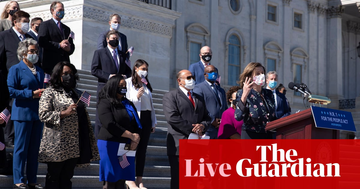 House passes sweeping bills on voting rights and police reform – live updates