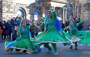 A parade through the streets of Edinburgh, Scotland