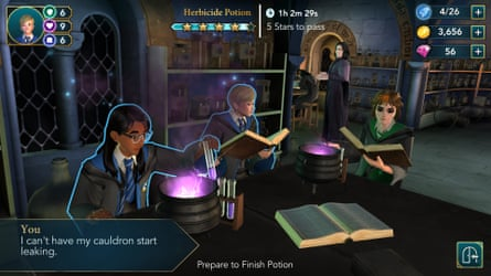 Snape is a sardonic presence in the Potions classroom