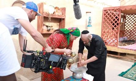 Filming on the set of Umm Haroun