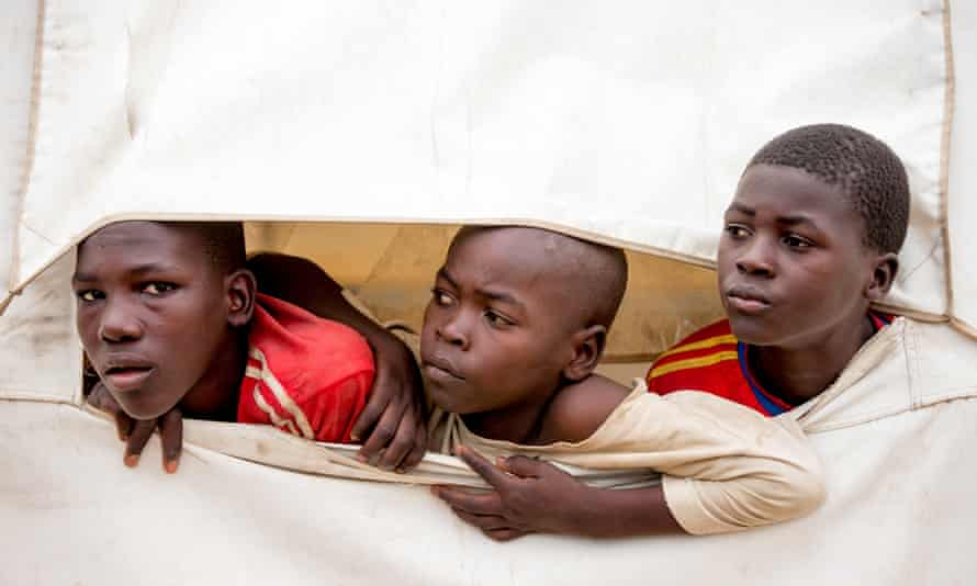 Young refugees in Minawao camp in northern Cameroon