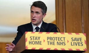 Education secretary Gavin Williamson at the daily Downing Street coronavirus briefing.