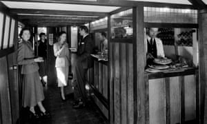 The 1930s Bulleid tavern rail carriage was built to resemble a mock 'olde worlde' pub.
