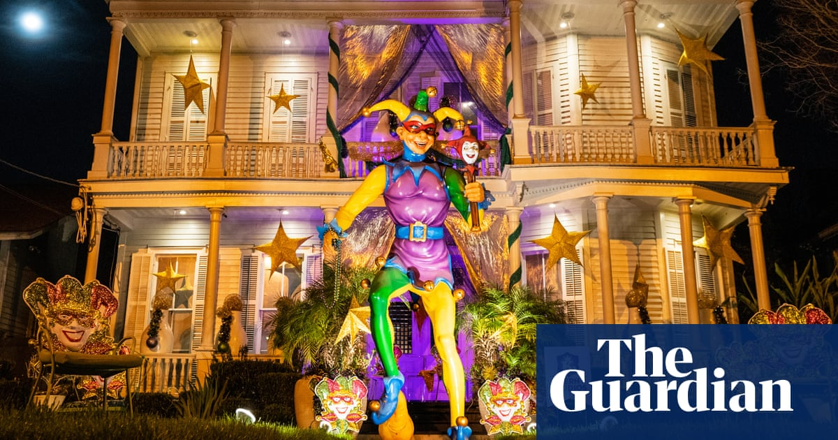 New Orleans houses become Mardi Gras floats in Covid era – in pictures
