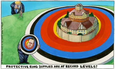 Steve Bell on Johnson, Hancock and protecting care homes — cartoon