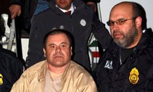 Mexican drug lord Joaquin 'El Chapo' Guzman in New York.