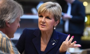 The foreign affairs minister, Julie Bishop, in Brisbane on Friday.