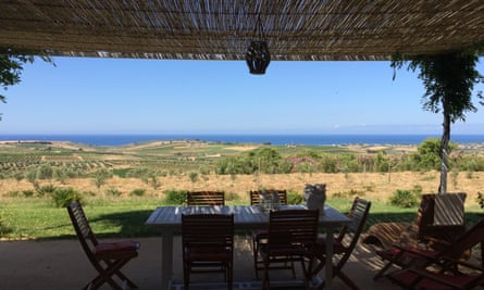 View from terrace of Villa Melograno Melograno, Lido Fiori,