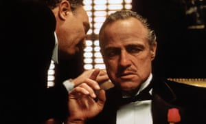 Marlon Brando in The Godfather, an example of a movie with a man in a hole story arc.